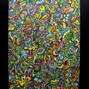 Jungle (acrylique sur toile, 195 x 130 cm)