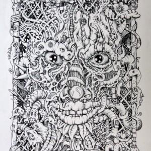 APIBEURSDé (Bic sur papier, 30x42cm)
