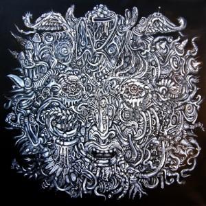 Sans titre (acrylique sur toile, 60x 60 cm)