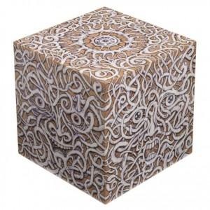 Cube Art Curial (technique mixte sur structure en bois, 20 x 20 x 20 cm)