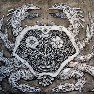 Cancer (techniques mixtes, 60 x 80 cm, 2014)