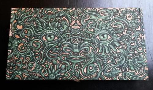 peinture sur boite à cigares